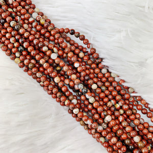 Red Jasper 4 mm - The Bead N Crystal & Enclave Gems