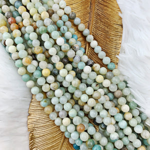 Amazonite (Chinese) 6 mm - The Bead N Crystal & Enclave Gems
