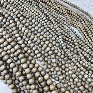 Gray Wood Strands - The Bead N Crystal & Enclave Gems