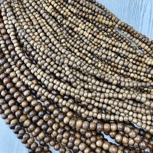 Robles Wood Strands 4-10mm - The Bead N Crystal & Enclave Gems