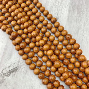 Bayong Wood 10mm - The Bead N Crystal & Enclave Gems
