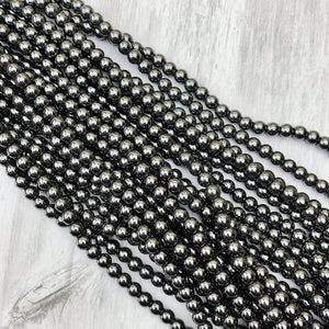 Hematite 6 mm - The Bead N Crystal & Enclave Gems