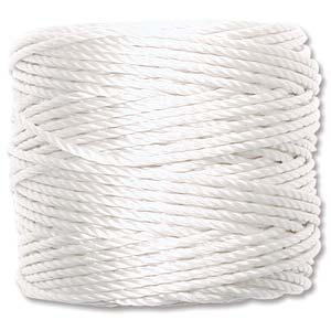 S-Lon Bead Cord - White (Heavy) - The Bead N Crystal & Enclave Gems
