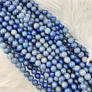 Aventurine (blue) 6 mm - The Bead N Crystal & Enclave Gems