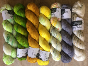 Find Your Fade Shawl Color Selections