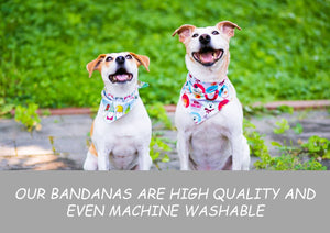 Dog Bandanna Cute Christmas Characters