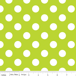 Paca Pet Pouf Pet Bed/Crate Mat Flannel Lime Dots Cover