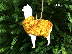 Holiday Decorations Alpacas in Handknit Sweaters