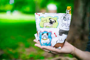 Fun Premium Treat and Pickup Bags Carry Pouch Bag Best in Show Chihuahua, Dachshund, Poodle, Dalmation With Food Safe Waterproof Lining