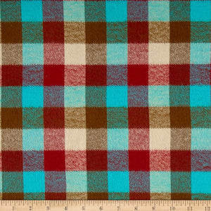 Paca Pet Pouf Pet Bed/Crate Mat Plaid Durango Teal Cover