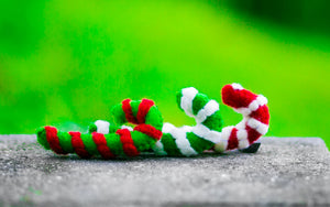Karma Cat Felted Wool Candy Cane Christmas Cat Toy
