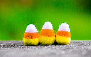 Felted Wool Halloween Candy Corn Trick or Treat Catnip Cat Toys