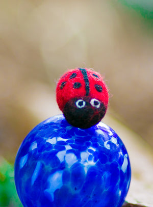 Karma Cat Backyard Friends Felted Ladybug