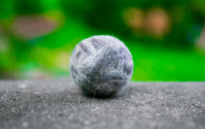 Fetch2.0!  Natural Alpaca Dog Ball in Jacob Sheep Wool DYE FREE