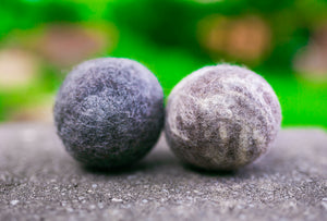 Fetch1.5!  Natural Alpaca Dog Ball in Blue Faced Leicester - DYE FREE