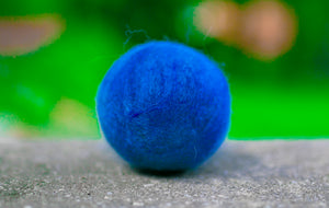 Fetch1.5!  Alpaca Dog Ball in Summer Blue Dark