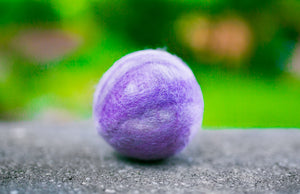 Fetch2.0!  Alpaca Dog Ball in Migraine Purple
