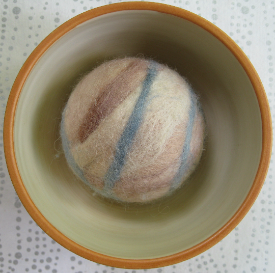 Fetch3.0!  Alpaca and Wool Fiber Dog Ball in Sand and Sea