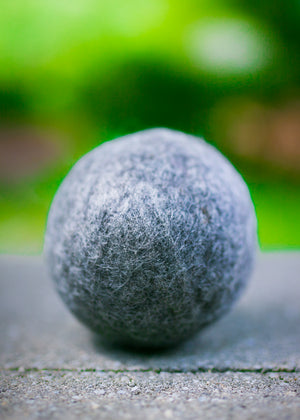 Fetch3.5! Natural Alpaca Dog Ball in Gray Gotland - DYE FREE