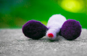 Fuzz! Felted Catnip Mouse Cat Toy in Crocus Petal
