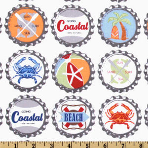 Fun Standard Treat and Pickup Bags Carry Pouch in Going Coastal Bottle Caps