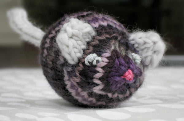 Jingle Bell Mouse in Black Purl