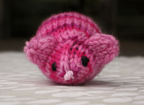 Jingle Bell Mouse in Tickled Pink