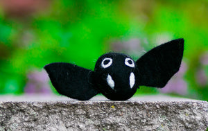 Karma Cat Felted Wool Halloween Cat Toy Bat