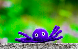 Karma Cat Felted Wool Halloween Cat Toy Spider