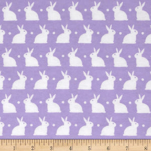 Flannel Mini Kitty Nip Kicker Catnip Toy in Lilac Bunnies