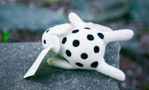 Lollycadoodle Felted Dog Toy Cow