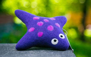 Lollycadoodle Felted Dog Toy Stingray