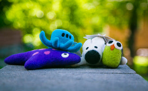 Lollycadoodle Felted Dog Toy Octopus