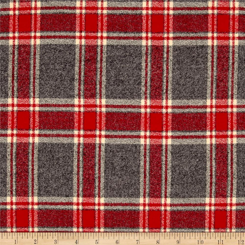 Original Paca Pet Pouf Pet Bed With Red Mammoth Plaid Flannel Cover