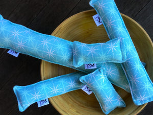 Twill Kitty Nip Kicker Catnip Cat Toy in Cass Blue Snowflakes - 3 SIZES - LAST ONES!