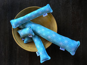 Twill Kitty Nip Kicker Catnip Cat Toy in Cass Blue Snowflakes - 3 SIZES!