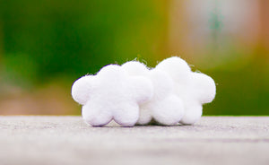 Felted Clouds Wool Cat Toy DYE FREE