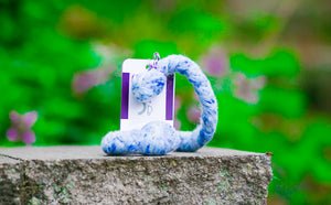 Popular Woolly Tug Felted Dog/Cat Toy in Blue Tweed #BT27