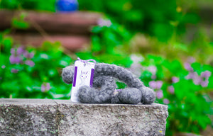Generous Woolly Tug Felted Dog/Cat Toy in Natural Gray Gotland DYE FREE #G47