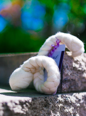 Generous Woolly Tug Felted Dog/Cat Toy in Natural Merino Wool - DYE FREE #M35