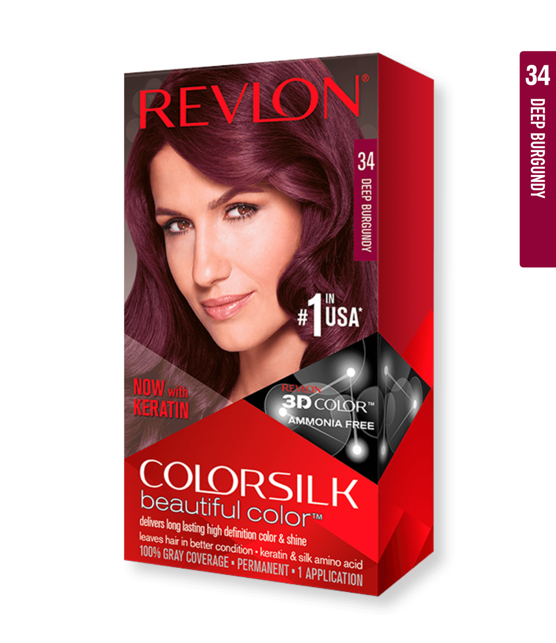 Revlon ColorSilk 34 Deep Burgundy | Duo Cosmetics