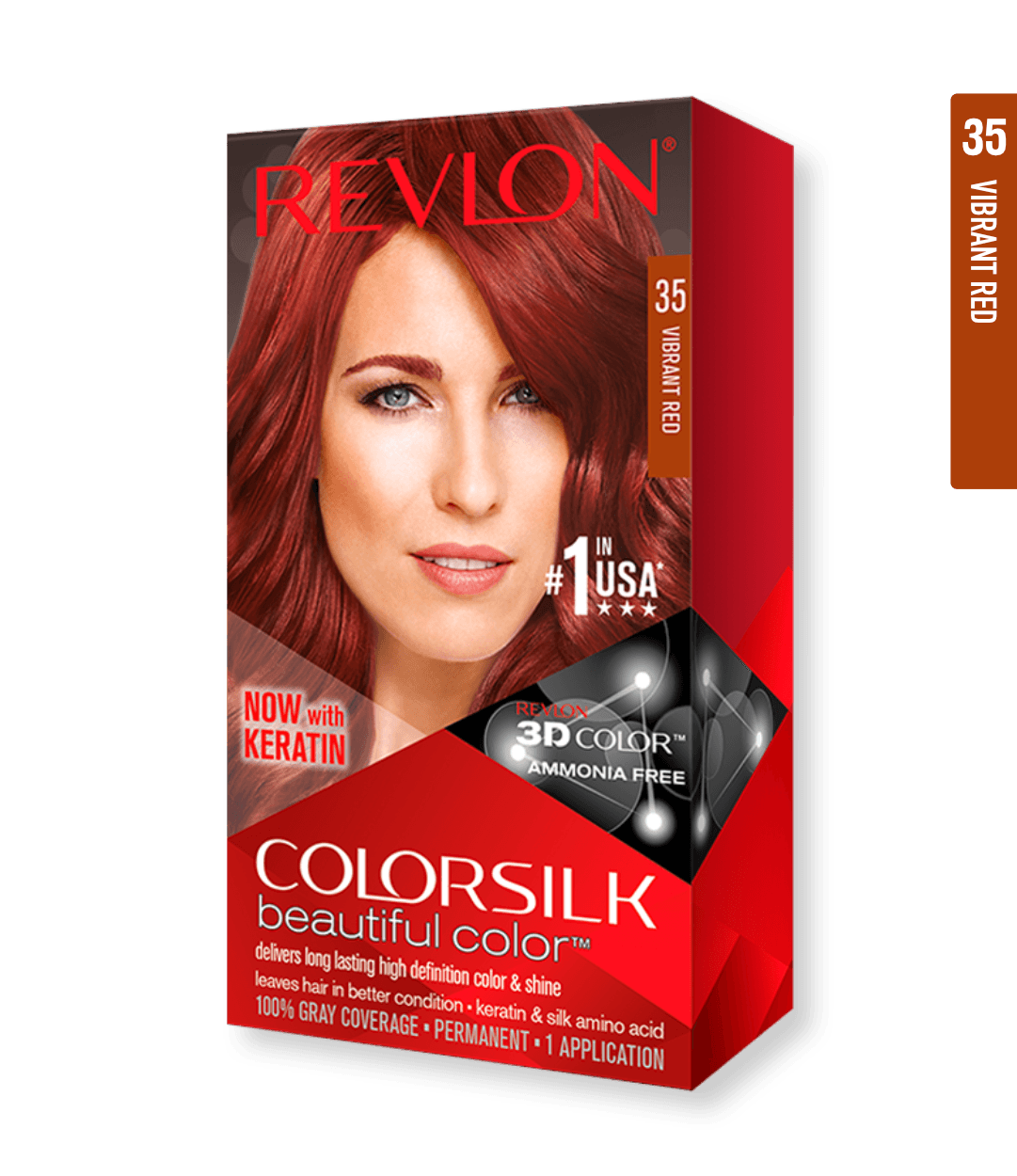 Revlon ColorSilk 35 Vibrant Red | Duo Cosmetics