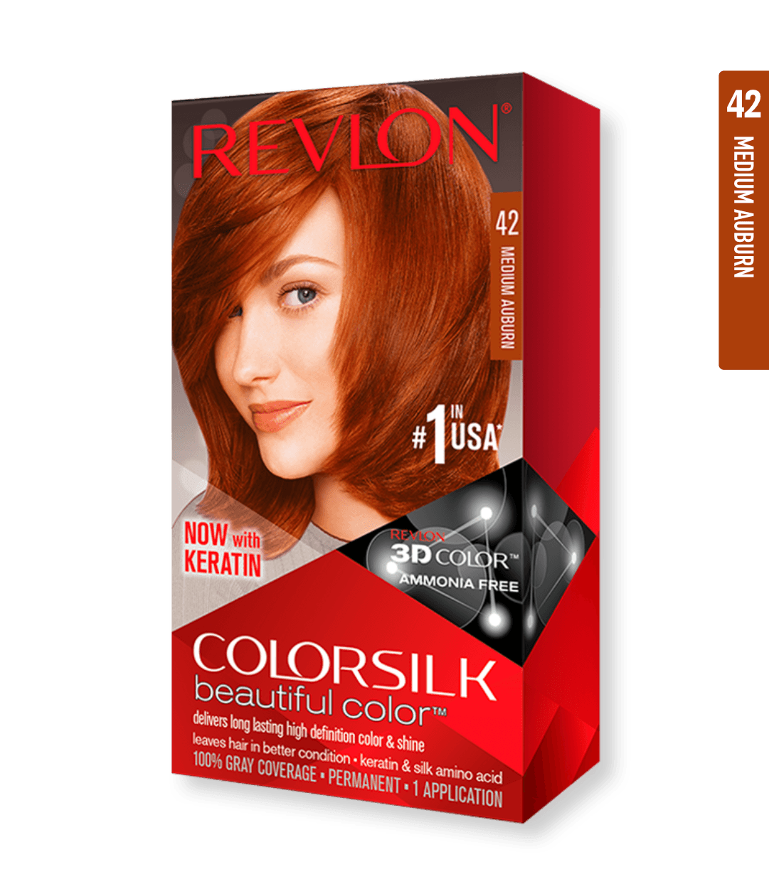 Revlon ColorSilk 42 Medium Auburn | Duo Cosmetics