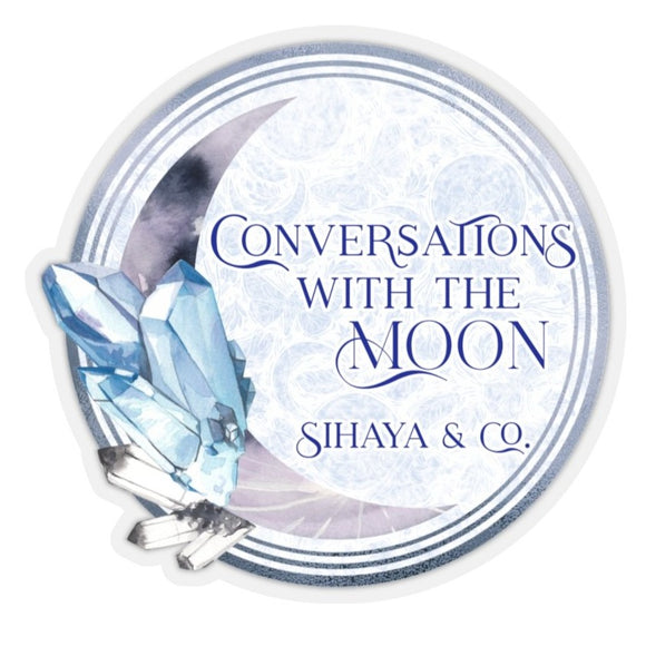 CONVERSATIONS WITH THE MOON Sticker
