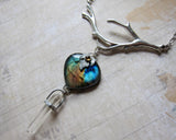 IN THE DAWNLIT GROVE Quartz and Labradorite Pendant