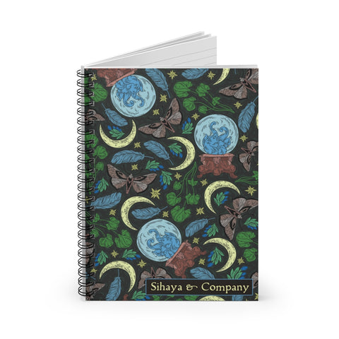 TWILIGHT MOTH Spiral Notebook