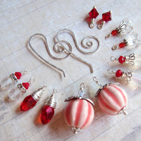 PEPPERMINT SWIRL Earring Wardrobe Set