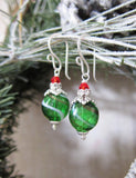 ORNAMENTS Earrings in Evergreen Swirl
