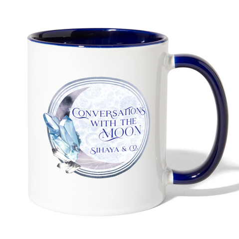 CONVERSATIONS WITH THE MOON Contrast Mug