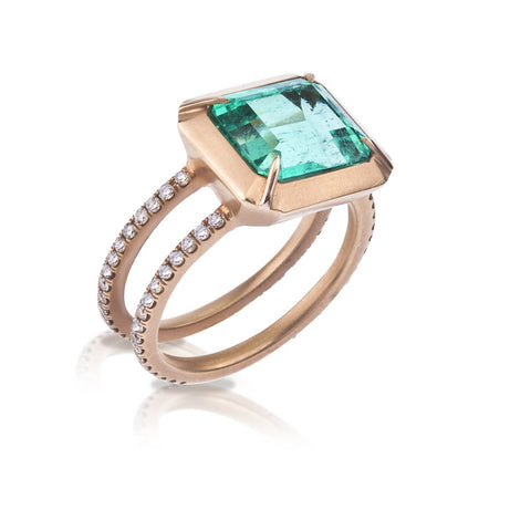 Angie emerald ring